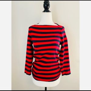 Kate Spade ♠️ Blue and Red Stripped Shirt